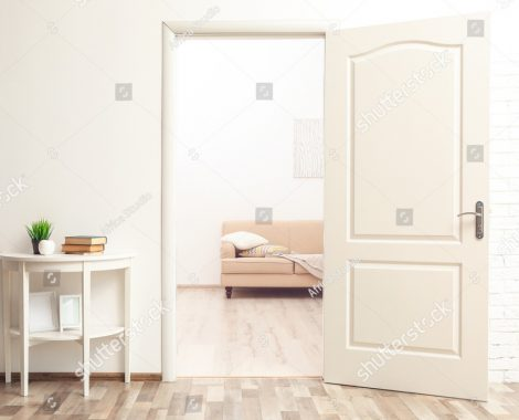 stock-photo-room-design-interior-with-open-door-436627021